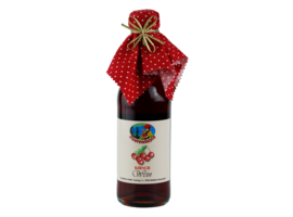 cherry wine with cloth